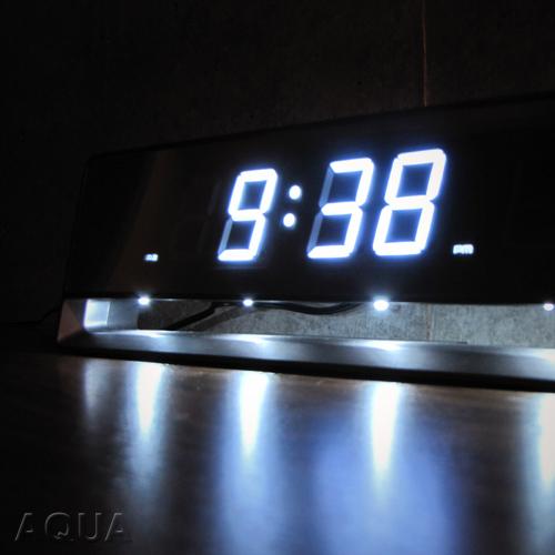 IDEA LABEL「ミラー電波LEDクロック」