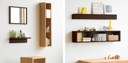 「壁に付けられる家具」