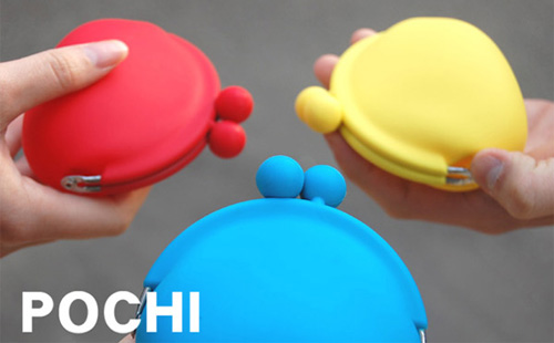 シリコン製がま口コインケース「POCHI(ポチ)」