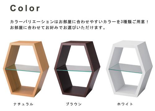 六角形を自由に組み合わせるラック「パズルラック ハコゾー」
