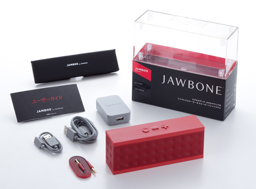 美しいフォルムと迫力のサウンドが魅力のポータブルスピーカー「Jawbone JAMBOX」