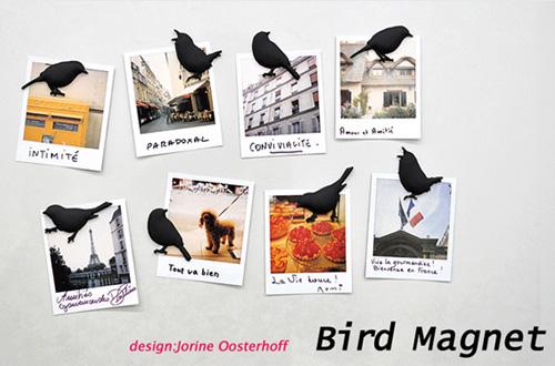 レリーフみたいな小鳥のマグネット「puhlmann(プルマン)社バードマグネット」