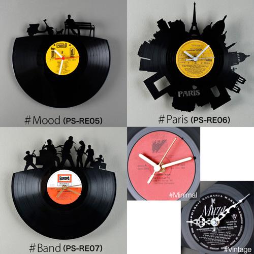 アナログレコードをリメイクした時計「Re Vinyl(リヴァイナル)」